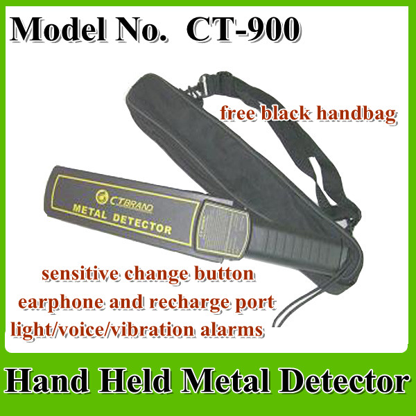 CT-900 hand held metal detector with black hand bag