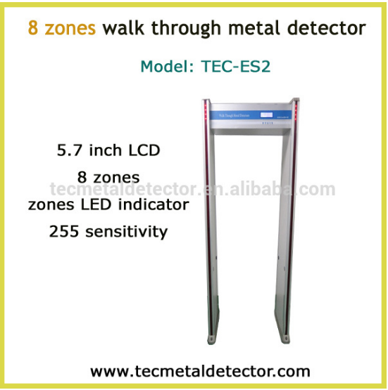 8 zone walk through metal detector TEC-ES2