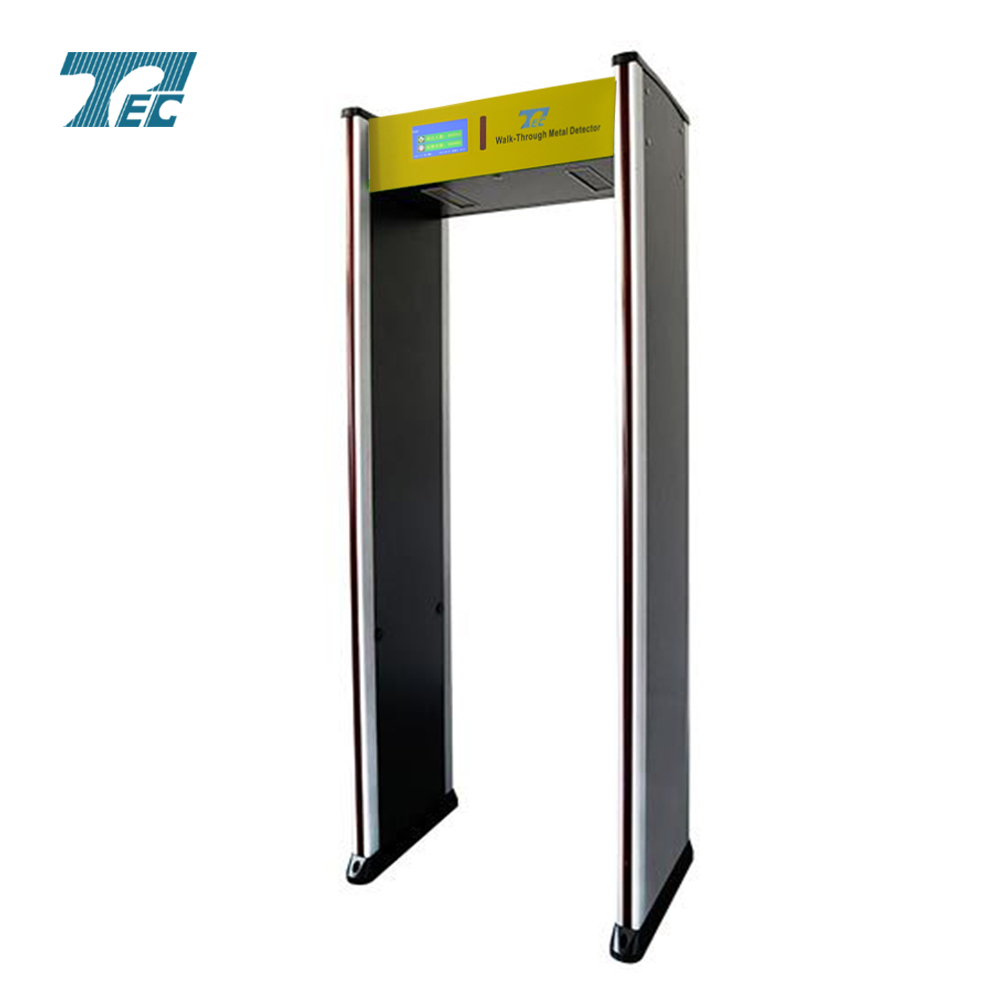 24 zones & colors LCD Security metal detector Door
