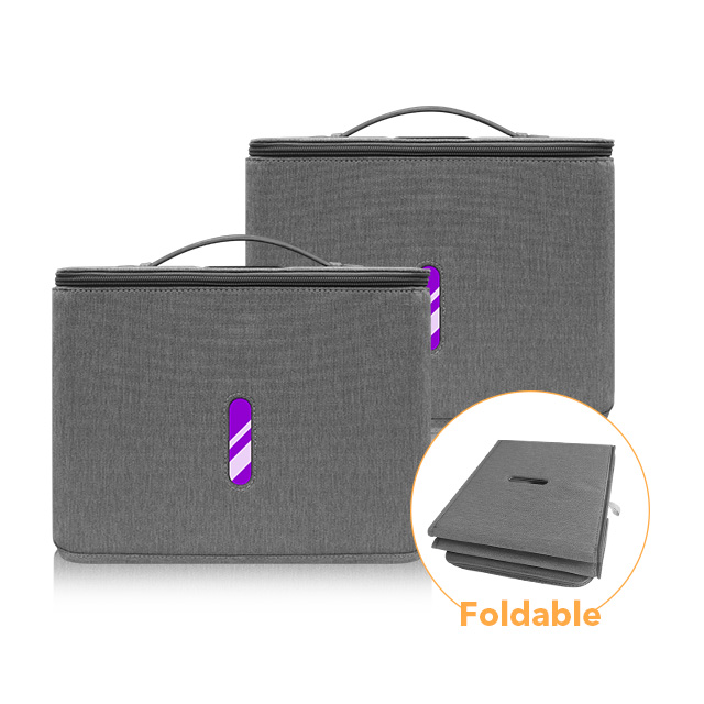 Foldable UV sterilizer bag